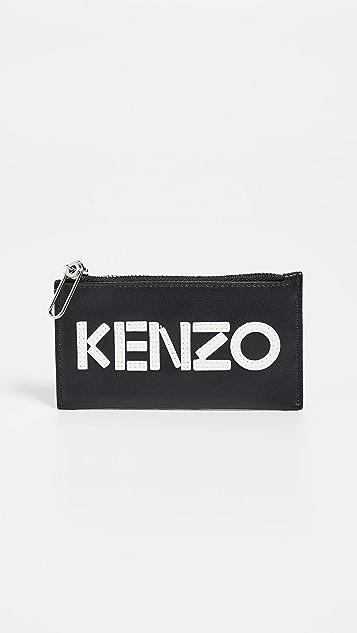 KENZO Logo Zip Cardholder