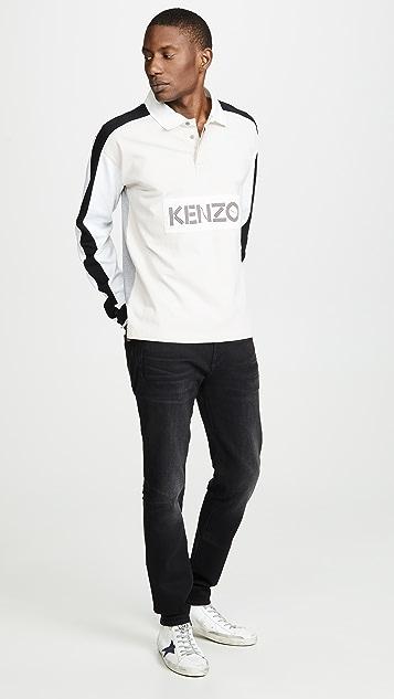 3b3a3f52 KENZO Rugby Long Sleeve Polo Shirt   EAST DANE