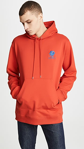 KENZO Rose Crest Elongated Hoodie
