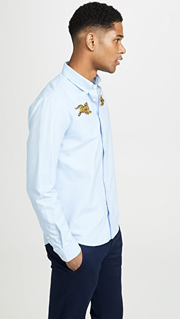 KENZO Jumping Tiger Crest Casual Fit Shirt