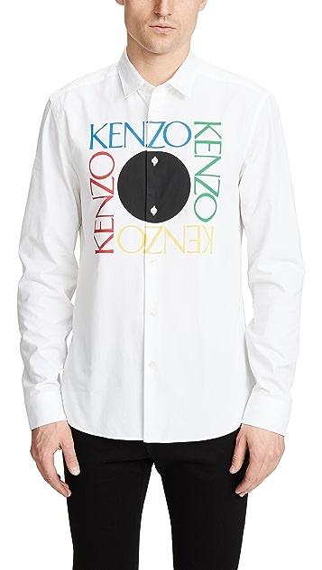 KENZO Kenzo Logo Slim Fit Shirt
