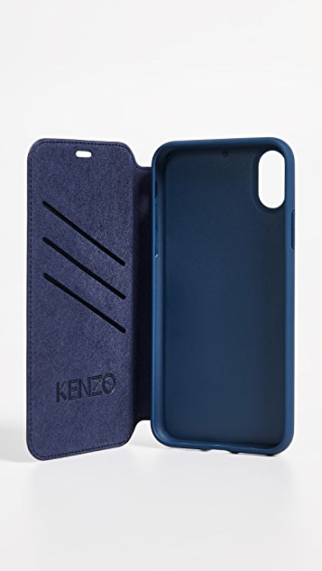 KENZO Tiger Folio iPhone X Case