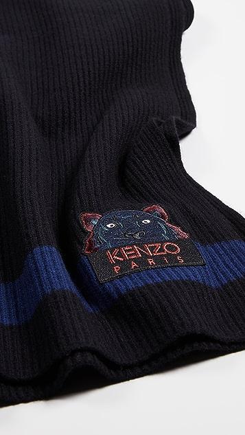 KENZO Wool Tiger Scarf