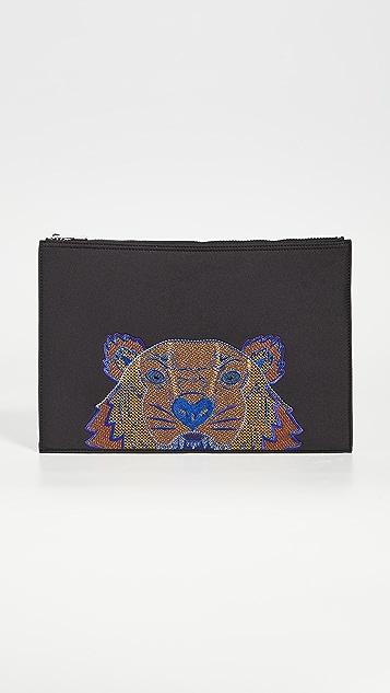 KENZO Neon Tiger Document Holder