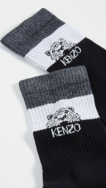 KENZO Stripy Tiger Socks