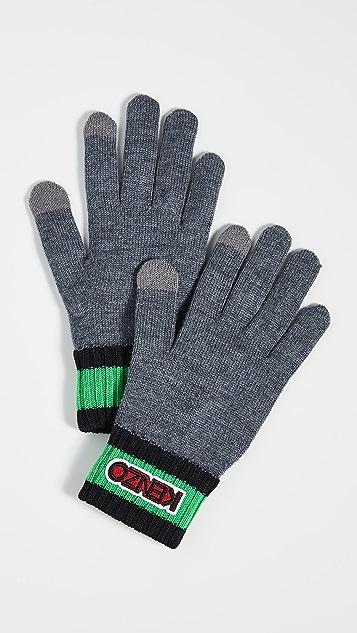 KENZO Logo Tag Knit Gloves
