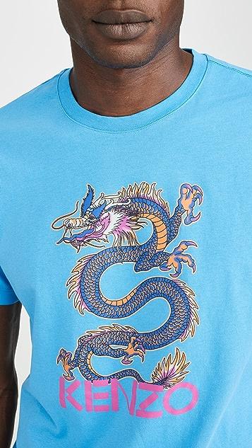 KENZO Dragon Print Tee Shirt