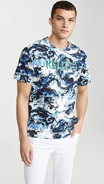 KENZO Kenzo Paris All Over Print Short Sleeve Tee Shirt