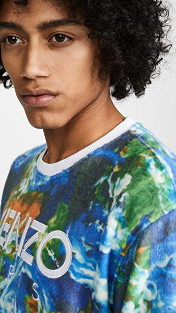 KENZO Kenzo World All Over Print Sweatshirt