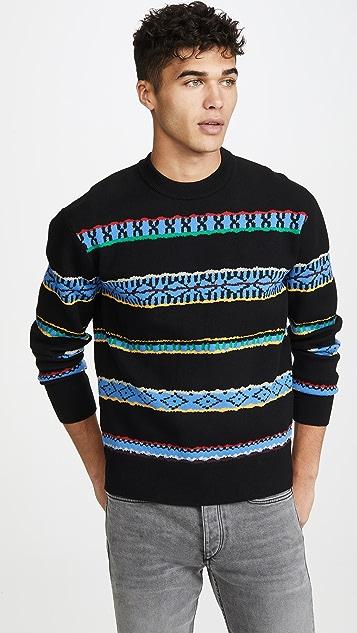 KENZO Peruvian Stripes Crew Neck Sweater