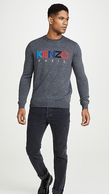 KENZO Kenzo Paris Merino Crew Neck Sweater