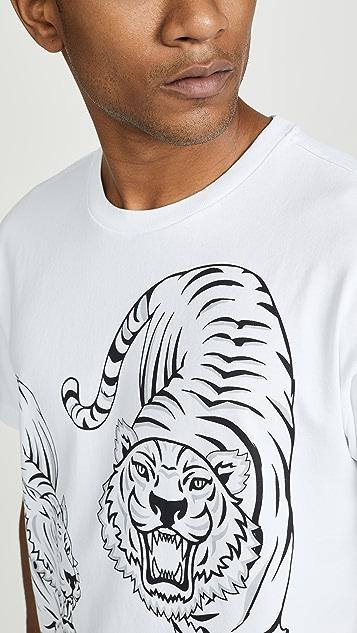KENZO Double Tiger Short Sleeve Tee Shirt