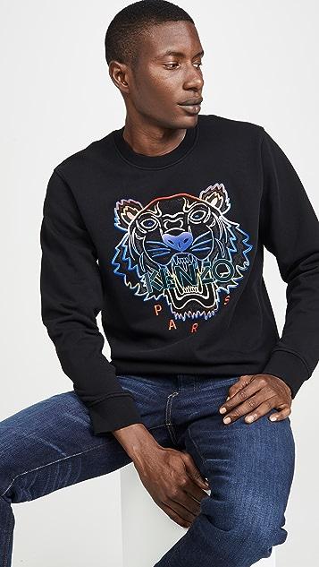KENZO Gradient Tiger Crew Neck Sweatshirt