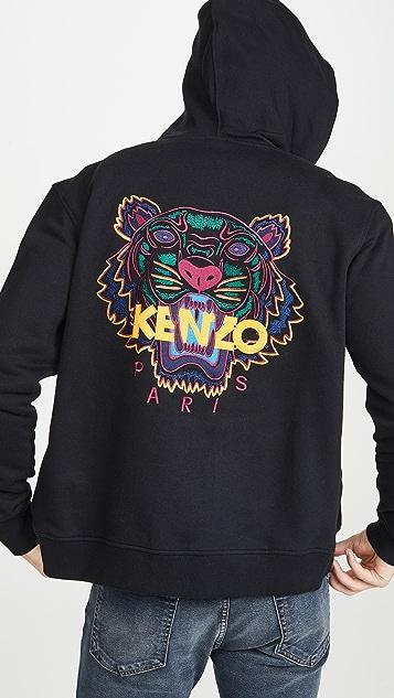 KENZO Classic Tiger Zip Up Hoodie