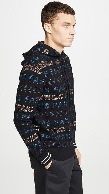 KENZO All Over World Hooded Sweatshirt