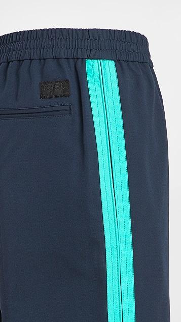 KENZO Tapered Cropped Sideband Pants