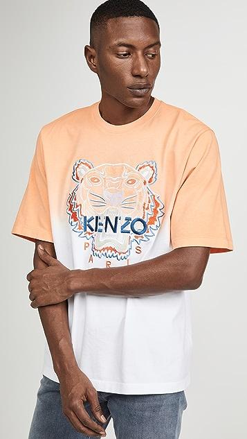 KENZO Dip Dye Tiger Oversize T-Shirt