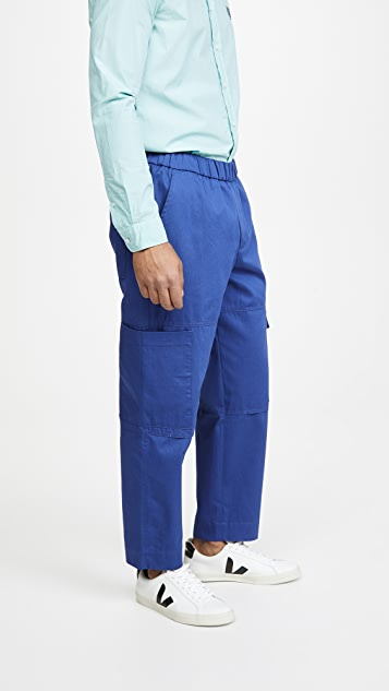 KENZO Tapered Cropped Cargo Pants