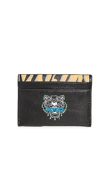 KENZO Tiger Print Cardholder