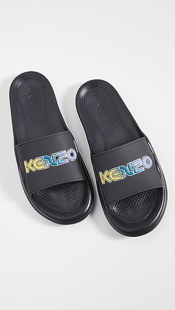 KENZO Pool Mule Kenzo Logo Slides