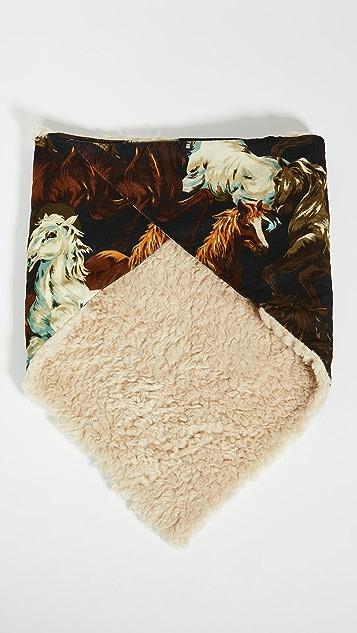 KENZO Horses' Quilted Baby Cord Bandana