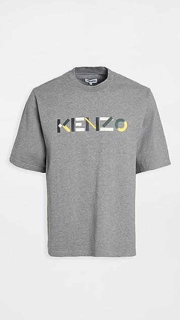 KENZO Kenzo Logo Multico Skate T-Shirt