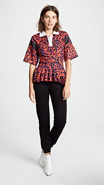 Koche Pleated Polo Shirt