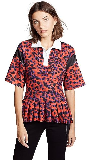 Koche Рубашка-поло со складками