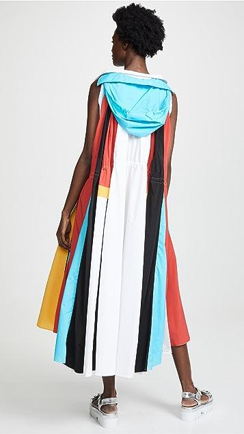 Koche 拼接衬衣式连衣裙