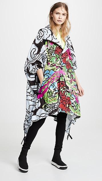 Koche Dragon Print Poncho