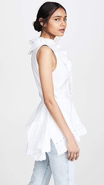 Koche Sleeveless Frilled Blouse