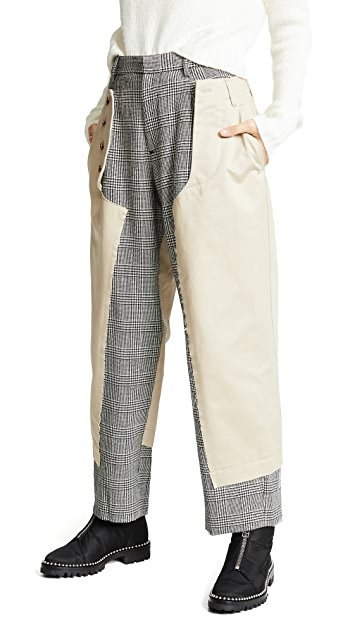 Kolor Two Tone Trousers