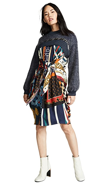 Kolor Patterned Long Sleeve Dress