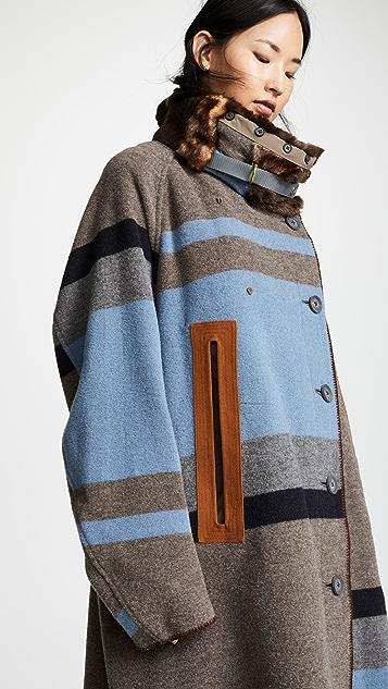 Kolor Plaid Oversized Coat