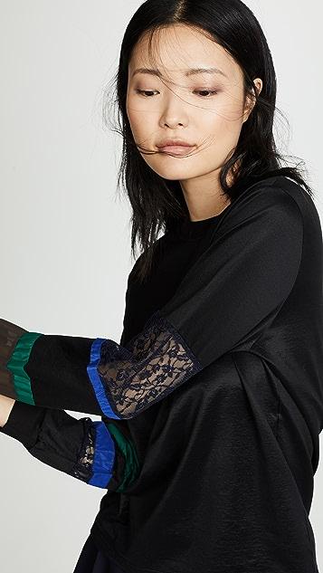 Kolor Colorblock Sleeve Pullover