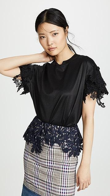 Kolor Lace Trim Sweater