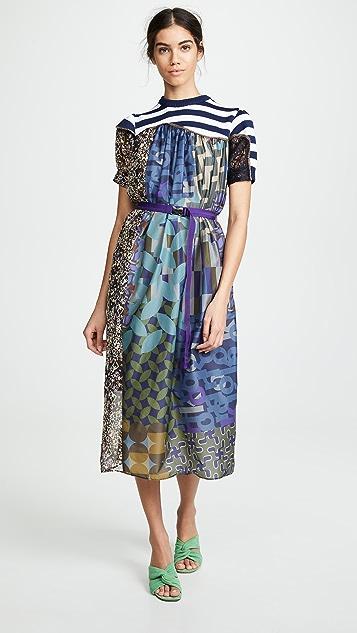 Kolor Combo Maxi Dress - Multi