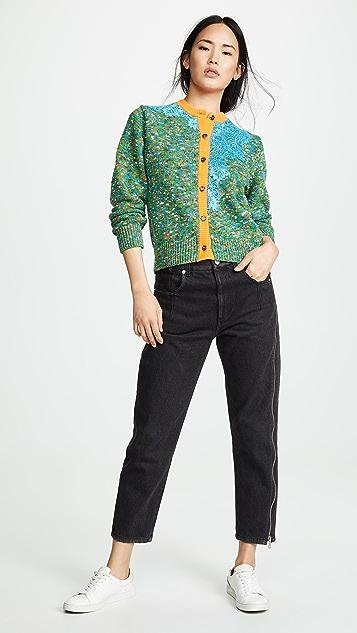 Kolor Contrast Hem Cardigan