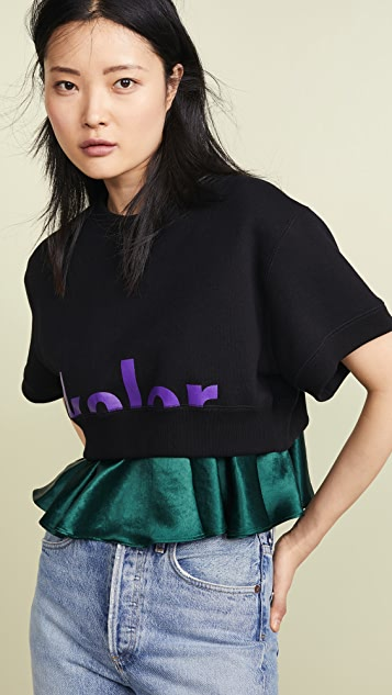 Kolor Short Sleeve Sweatshirt