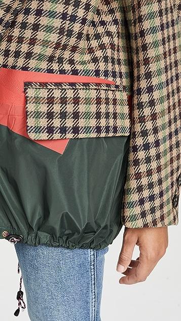 Kolor Oversized Check Blazer