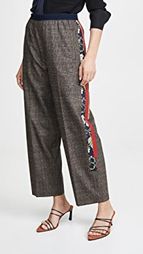 Side Stripe Check Trousers