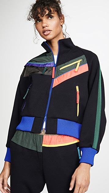 Kolor Coats Colorblock Zip Detail Bomber Jacket
