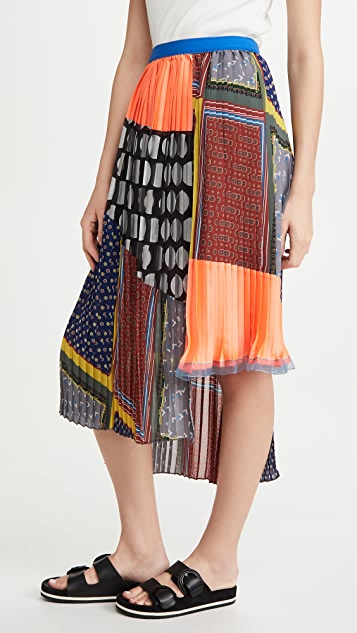 Kolor Mixed Print Skirt