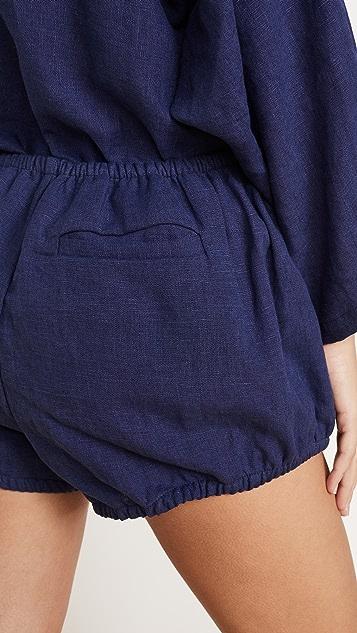 Kondi 亚麻灯笼短裤