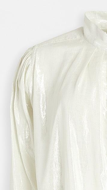 Kondi Metallic Poet's 女式衬衫