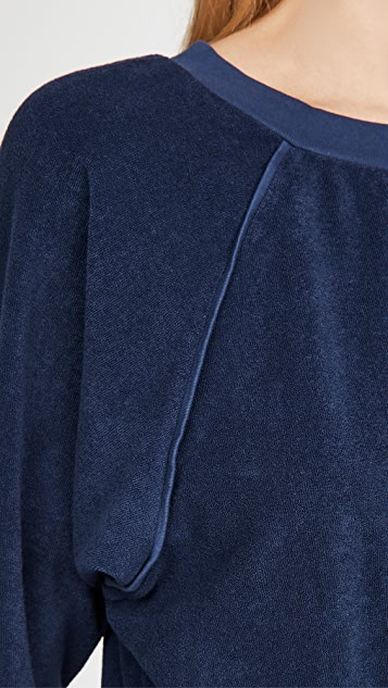Kondi 毛圈布连肩上衣