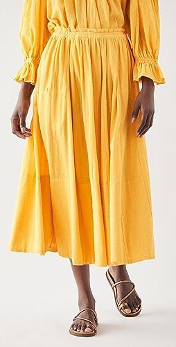 Kondi - Drawstring Gauze Skirt