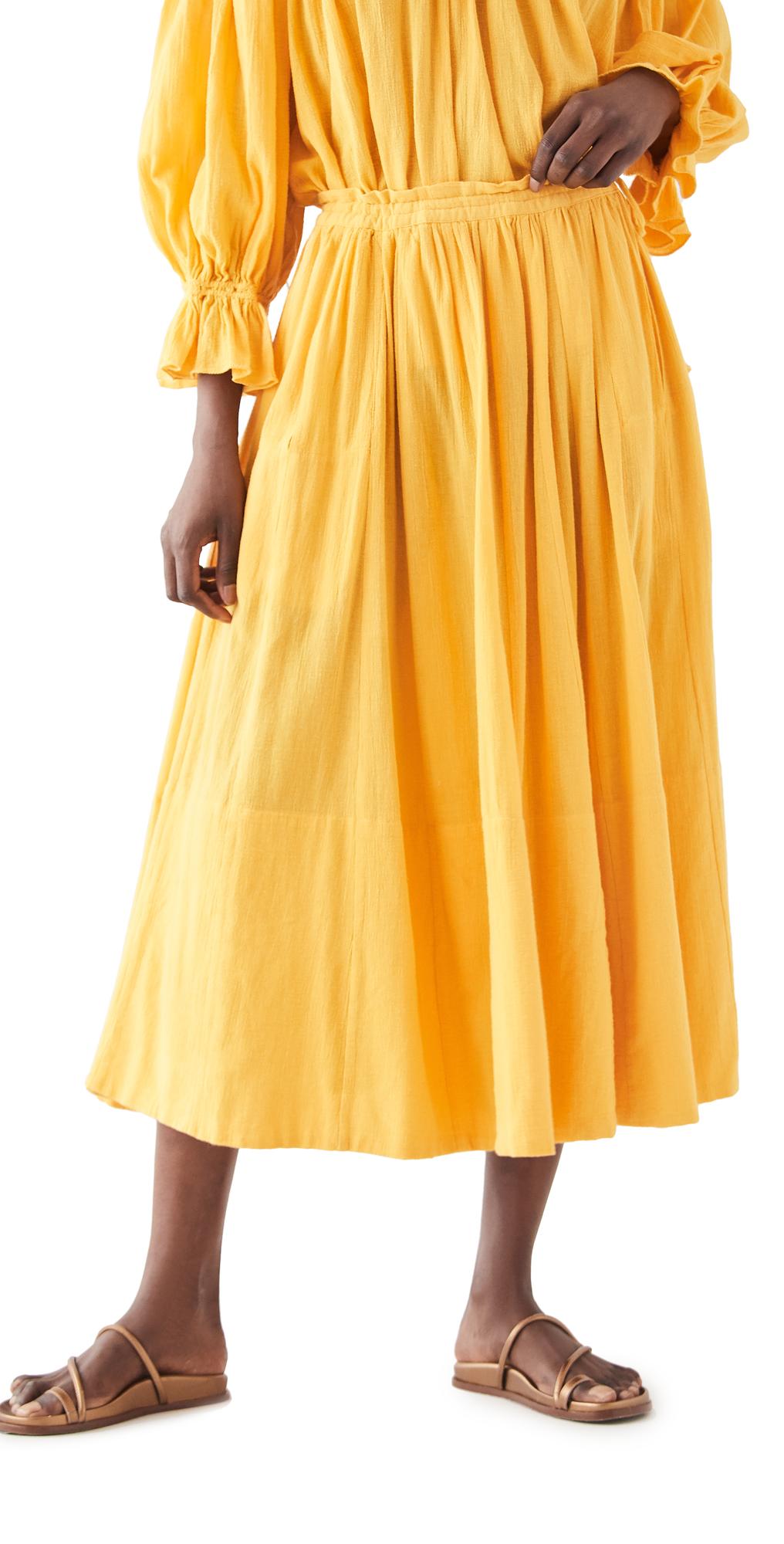 Drawstring Gauze Skirt