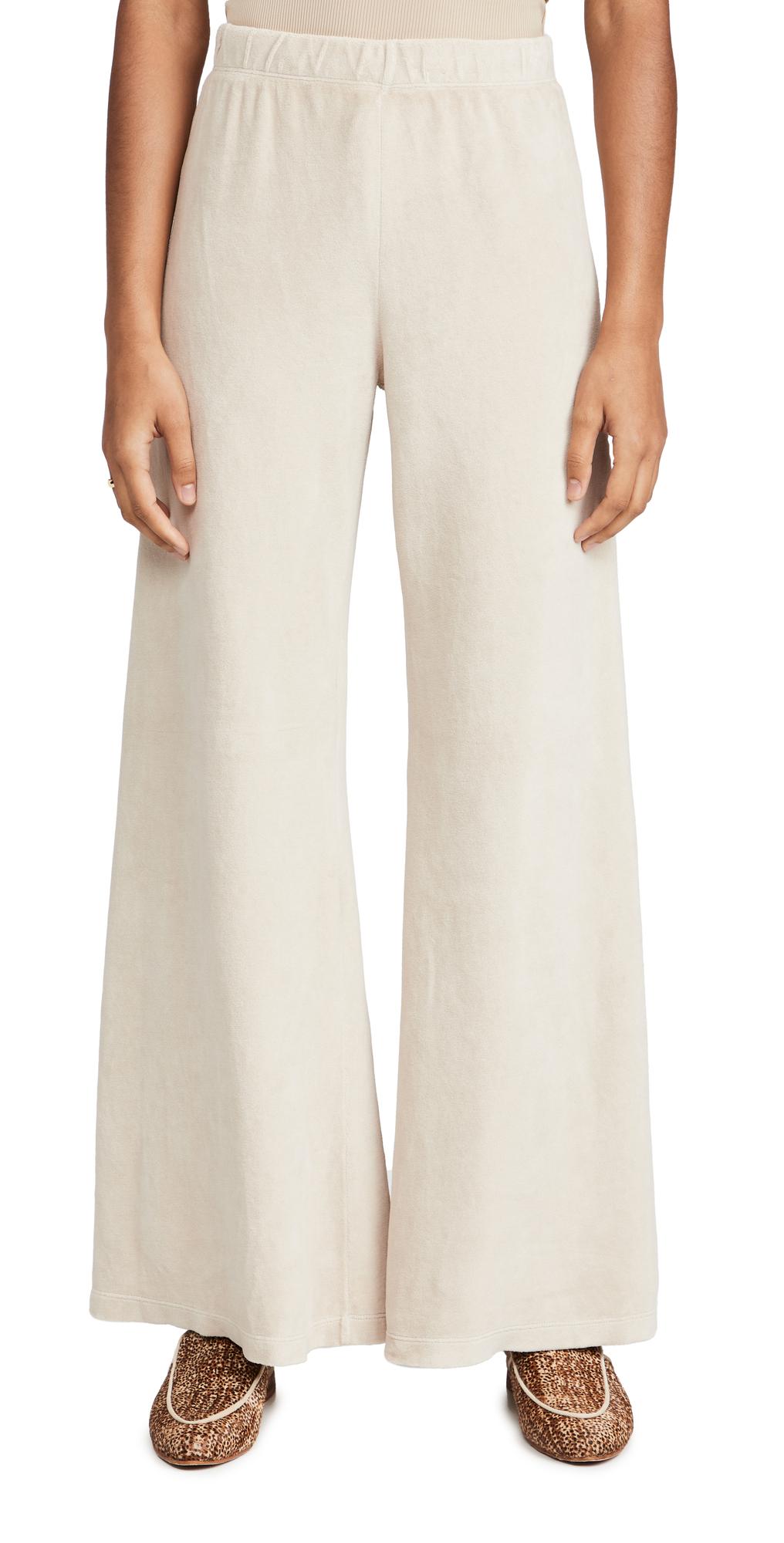 Velour Wide Leg Pants