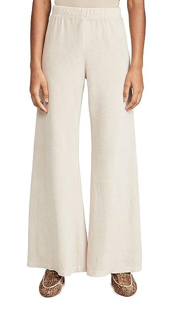 Kondi Velour Wide Leg Pants